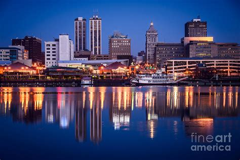 framed canvas prints for sale peoria illinois skyline at photograph by paul velgos