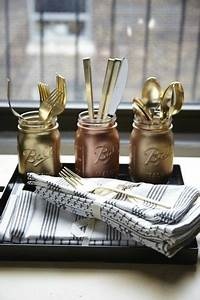 mason jar reuse ideas decozilla With what kind of paint to use on kitchen cabinets for painted mason jar candle holders