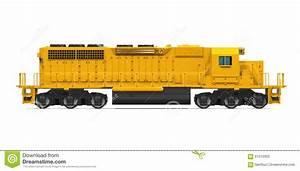 Yellow Freight Train Stock Illustration - Image: 61210050