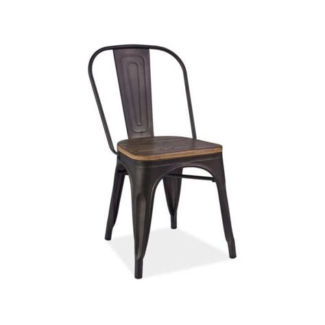 chaise noir pas cher chaise metal loft achat vente chaise metal loft pas