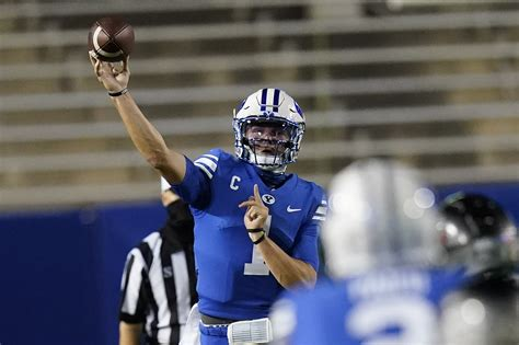 Wilson throws for 392 yards, No. 18 BYU routs Troy 48-7