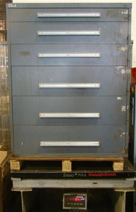 Stanley Vidmar Cabinet Locks by Stanley Vidmar 6 Drawer Tool Storage Cabinet Grey 45x27 1