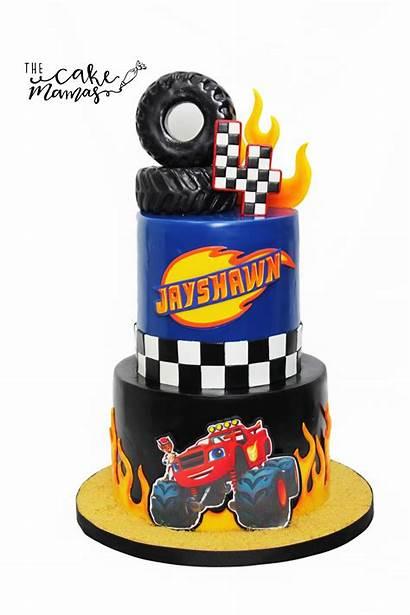 Cake Cakes Wheels Birthday Blaze 4th Cupcake