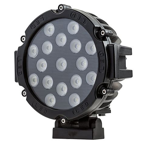 6 inch round led offroad lights led work light 6 quot round 51w 2 200 lumens led work