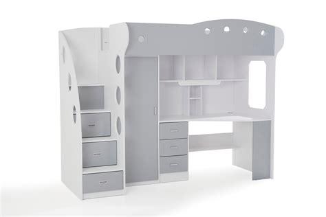 lit mezzanine 140 avec bureau combi lit combiné lit mezzanine chambre enfant