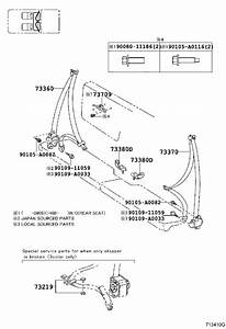 2011 Toyota Tacoma Seat Belt Lap And Shoulder Belt  Rear