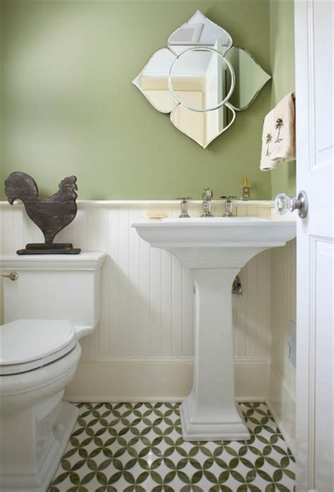 Memoirs Pedestal Sink Height by Spring Lake Beach Chic Beach Style Powder Room New