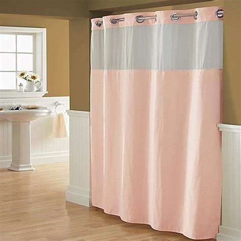 hookless shower curtains hookless 174 waffle fabric shower curtain bed bath beyond