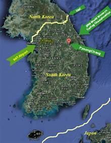 2018 Winter Olympics South Korea Map
