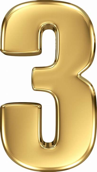 Number Gold Clipart Numbers Transparent Background Letters