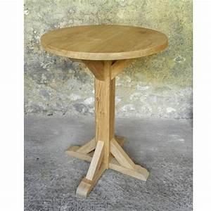 Table Ronde En Chene : table bois massif ebeniste ~ Teatrodelosmanantiales.com Idées de Décoration