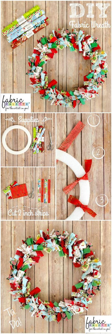 diy fabric wreath easy holiday decor fabric editions