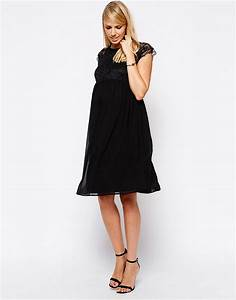 asos maternity asos maternity exclusive dress with lace With robe grossesse chic