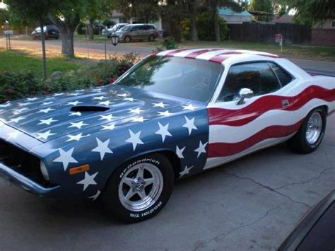 Nothing Says America Like A Muscle Car. Paint It Like A
