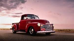 Download Wallpaper 1920x1080 Chevrolet, red pickup, retro ...