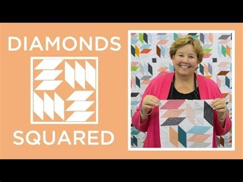 make an easy diamonds squared quilt missouri quilt company youtube quilting