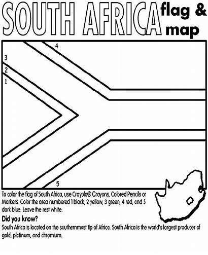 Coloring Flag African South Africa Pages Crayola
