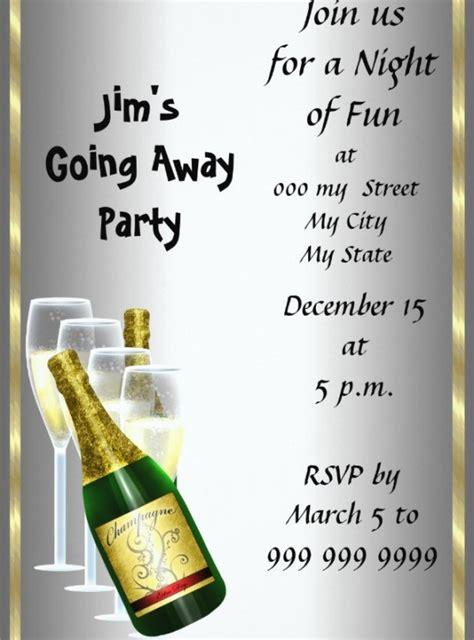 farewell drinks invitation design templates psd ai