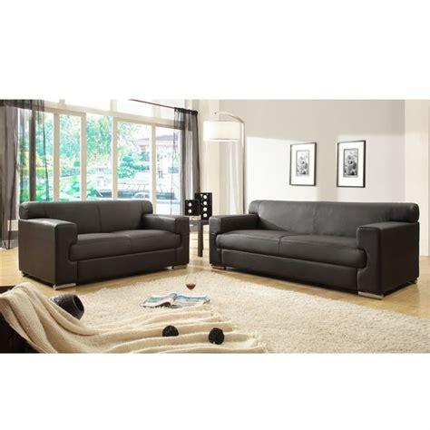 ensemble canapé 3 2 1 cubo ensemble de canapés fixes croûte de cuir et simili 3