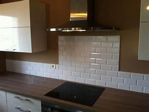 Faience Metro Blanc : realisation credence de cuisine en faience metro trets 13 ~ Farleysfitness.com Idées de Décoration