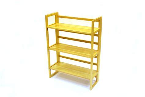 Stacking Shelf by Stacking Wooden Book Shelves 3 Tier Folding Book Shelf