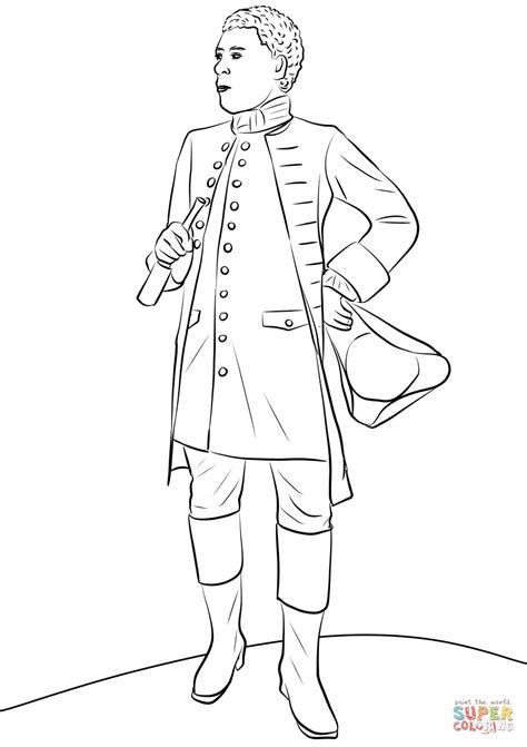 benjamin banneker coloring page  printable coloring pages