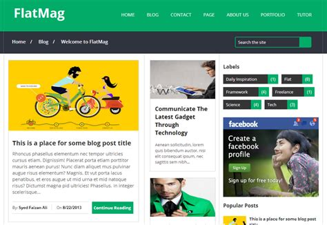 Top 10 Best Blogger Templates Of 2014 Available Online