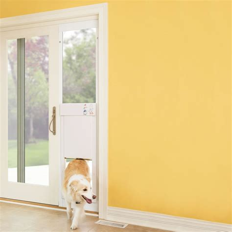 hightech power pet automatic dog door  sliding glass