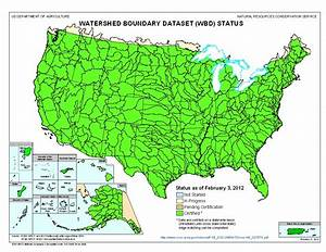 Watershed Boundary Dataset  Wbd  Status Maps