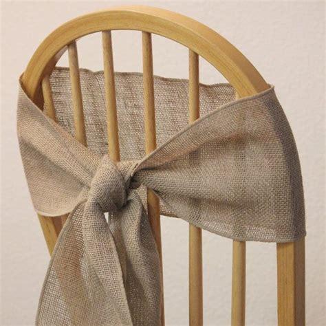 6 burlap chair sashes for weddings by burlapandsilkcompany