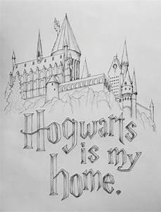 Harry Potter rocks my world! Hogwarts is my home. 12x18 ...