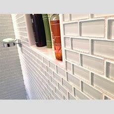 White 1x2 Mini Glass Subway Tile  Subway Tile Outlet