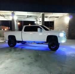 white chevy lifted truck 4 door led blue lights cencaltrucks chevypower dopetruck cencal