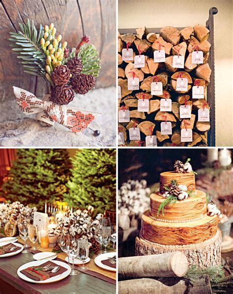 snowy rustic winter wedding decoration ideaswedwebtalks