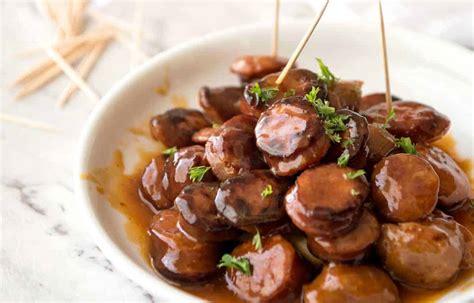 chorizo bites  sweet spicy sauce recipetin eats