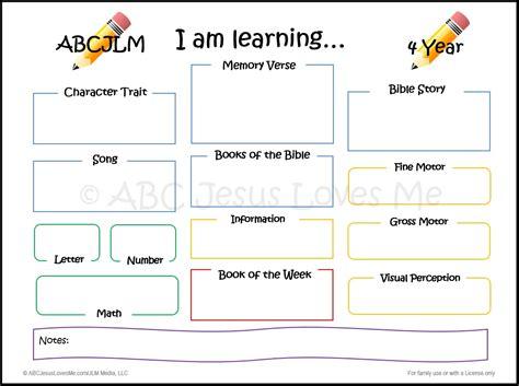 year old preschool lesson plans abcjesuslovesme 4 year curriculum week 1 abc jesus me 2