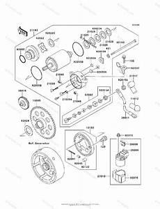 Kawasaki Atv 1995 Oem Parts Diagram For Starter Motor