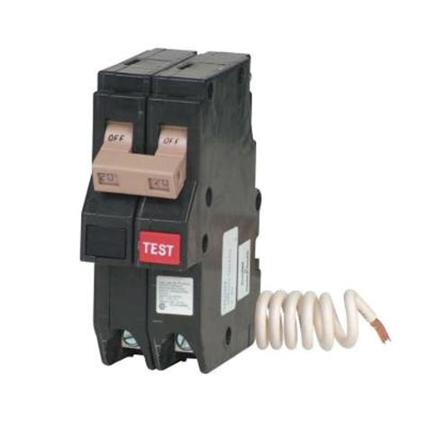 gfci circuit breaker 20 amp 2 pole ch type gfci circuit breaker ch220gfcs the home depot