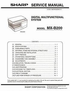 Sharp Mx-b200  Serv Man5  Service Manual