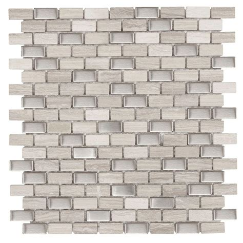 Jeffrey Court Mosaic Tile Home Depot by Jeffrey Court Brick Boulevard 11 1 4 In X 12 In X 8 Mm
