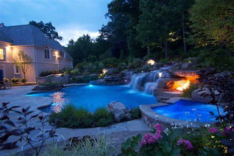Backyard Pool Yards by Large Backyard Landscaping Ideas Large Backyard Ideas Nj