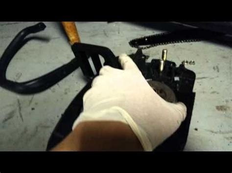 how to fix a stuck pull chain on light fixture poulan p3816 chain brake stuck diy fix youtube