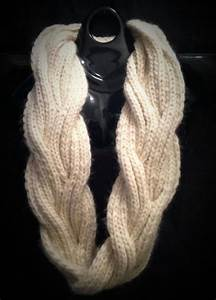 Chunky Knit Infinity Scarf with Reversible Cable Pattern ...