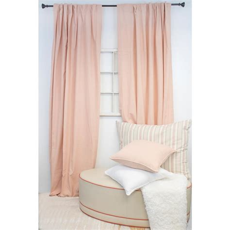 American Draperies by American Colors Brand 96 In L Blush Curtain Panel C1006