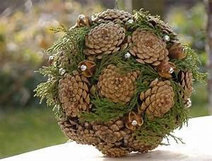 Adventsdeko Aus Naturmaterialien : ausra christmas ornaments pine cones christmas ~ Watch28wear.com Haus und Dekorationen