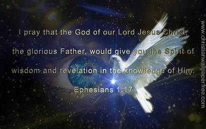 Ephesians Revelation Spiritual Christian Backgrounds Wisdom Verse