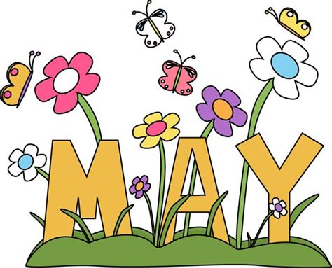 May Clip Free Month Clip Month Of May Flowers Clip Image