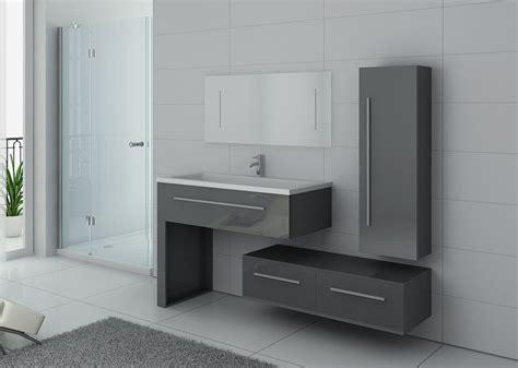 ensemble de meuble de salle de bain 1 vasque meuble de salle de bain gris dis9251gt distribain