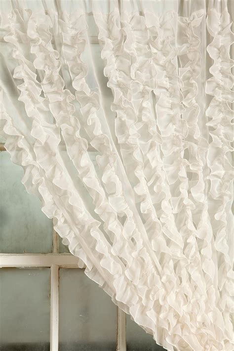 ruffle curtain 48 00 cottage chic 4 more ruffled curtains ideas
