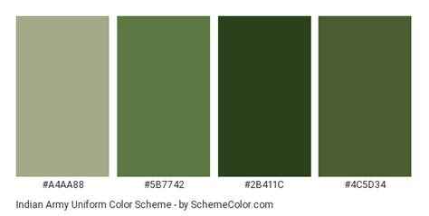 colors that go with army green indian army color scheme 187 green 187 schemecolor